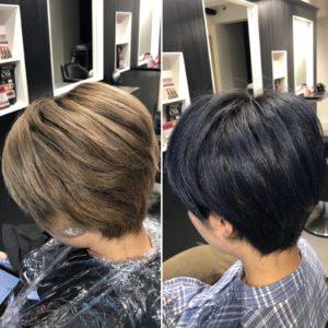 【ハイダメージ毛にカラー!?】ブリーチ履歴ありと縮毛矯正履歴があってもスロウカラーなら綺麗な髪色に♪