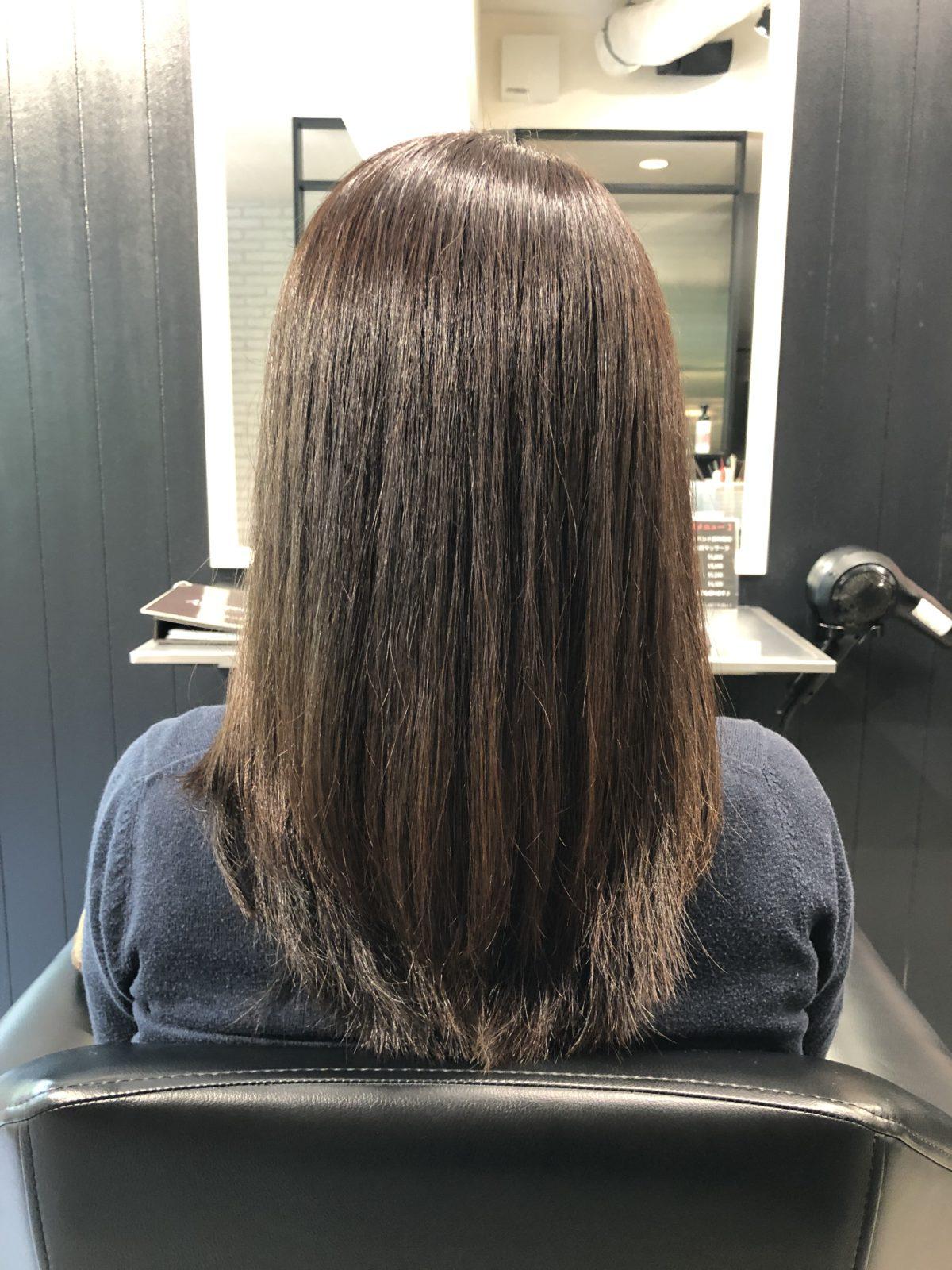 髪質改善白髪染めイルミナカラー