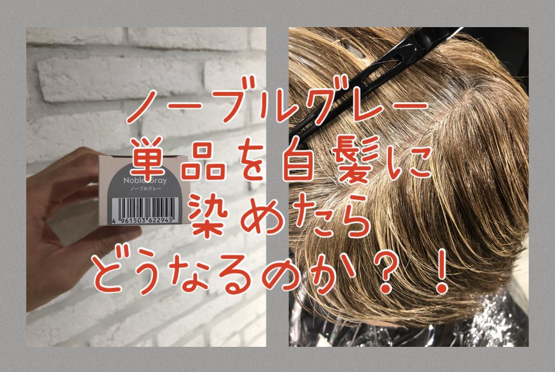 【ティントバー・白髪】ノーブルグレーを単品で白髪に染めたらどうなるのか!?