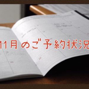 【サロン情報・予約確認】2021年11月★渡部のご予約状況♪